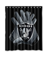 Oakland Raiders 01 Shower Curtain Waterproof Polyester Fabric For Bathroom  - $33.30+
