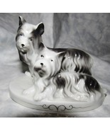 Antique pair Westies Dog Figurine Made in Japan Signed in Diamond and H - $12.99