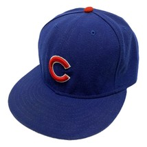 Chicago Cubs New Era On Field Fitted Baseball Hat Cap Size 7 1/2 USA Made - £23.83 GBP