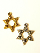STAR OF DAVID FINE PEWTER PENDANT CHARM image 1