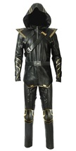 Avengers Endgame Ronin Jeremy Barton Hoodie Jacket/ Pants Real Leather Costume image 1