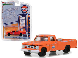 "1965 Dodge D-100 Pickup Truck ""Gulf Auto Repair & Tune Up\"" Orange \""Running on - $17.15"