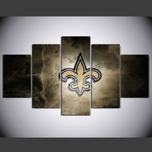 5 Panel HD Printed New Orleans Saints Football Team Picture Hoom Decor P... - $49.99+