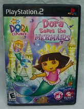 DORA THE EXPLORER Dora Saves the Mermaids Sony PlayStation 2 PS2 VIDEO GAME - $14.85