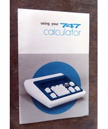 Using your 747 Calculator Owner's Manual - $3.50