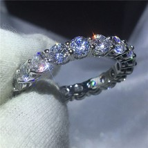 choucong Vintage ring Pave setting 5A zircon Cz 925 Sterling silver Enga... - $19.92