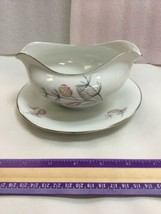 Gravy Boat with Underplate Macietta Edelstein Bavaria Germany - $37.74