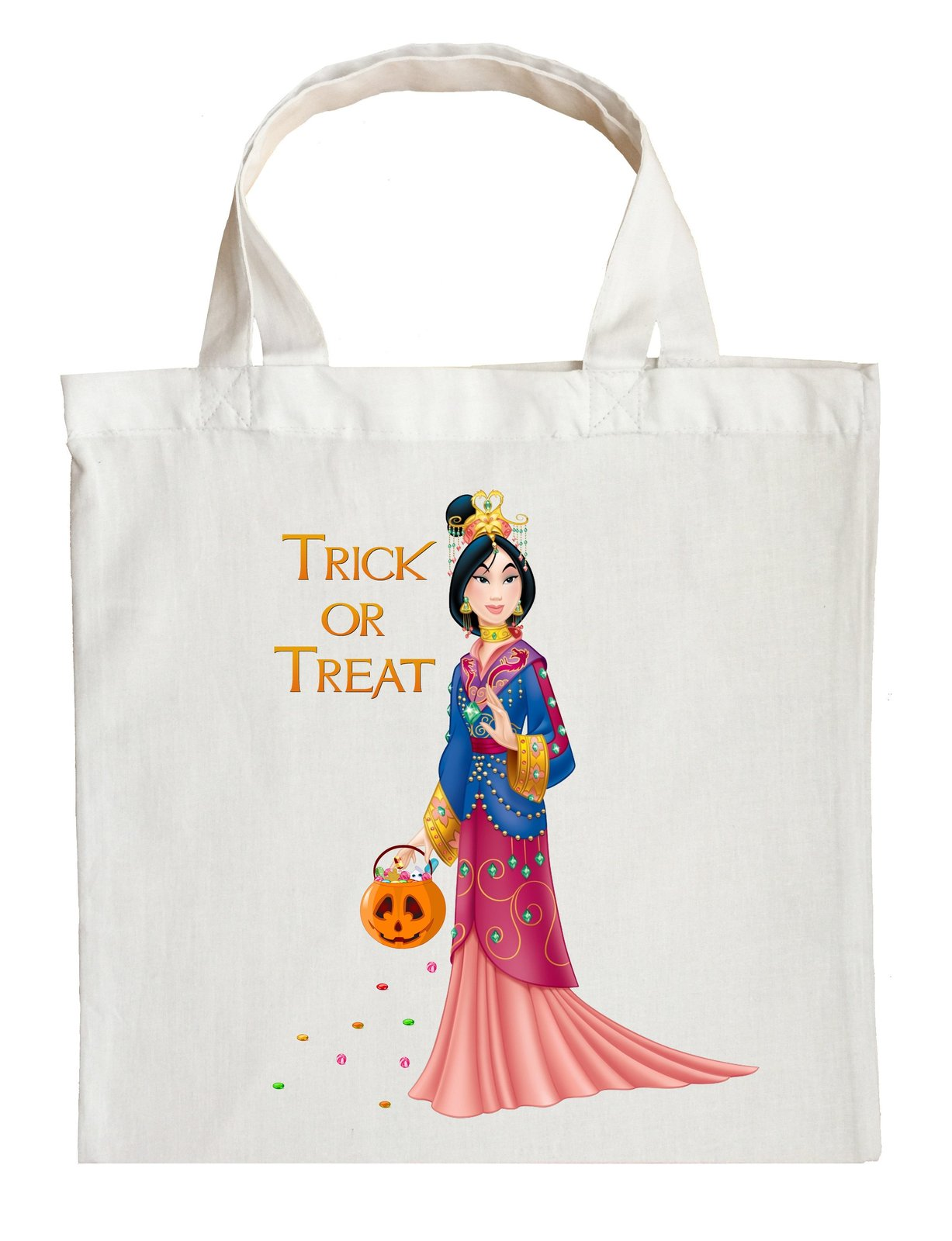 Mulan Trick or Treat Bag - Personalized Mulan Halloween Bag