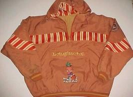 Texas Longhorns Basketball NCAA Big 12 Orange Pullover Nylon Jacket Hoodie XL - $98.01