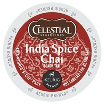Celestial Seasonings India Spice Chai Tea, 48 count Keurig K cups, FREE ... - $38.99