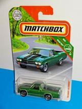 Matchbox 2019 MBX Road Trip #20 '70 Chevy El Camino Green - $3.00