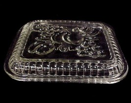 "Federal Glass Fruits Clear Oblong Refrigerator Dish Lid only 4 3/8"" X 5"" - $10.95"