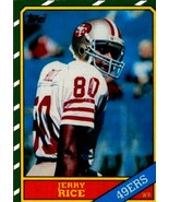 Lot of 5 1986 Topps #161 Jerry Rice Rookie Reprint Cards San Francisco 4... - $5.94