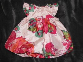 BABY GAP WATERCOLOR FLORAL SPECIAL OCCASION DRESS 3-6 GIRL EASTER CHURCH... - $15.98