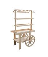 Wood Cart Vendor Display Flower Retail Cart Bakery Cart Storage Cart Ven... - $300.95