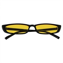 Thin Rectangle Sunglasses Mens Womens Fashion Color Tone Skinny Frame Su... - $8.43