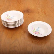 8 Vintage Edwin M. Knowles Flower Pattern Small Berry Bowls Made In USA - $32.71