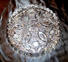 Cut Glass Serving Tray with Star Design AA18-11812 Antique Heavy image 2