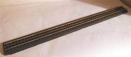 "HO TRAINS OLDER 3 RAIL DISPLAY TRACK ON WOODEN BASE- 19"" LONG - FAIR -  ... - $6.26"