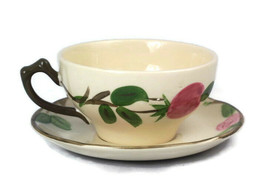 Franciscan Desert Rose Teacup Saucer Set Hand Decorated Classic - $19.79
