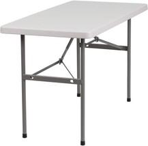 Plastic Folding Table Foldable Desk Home Office Kitchen Furniture Granit... - $67.23