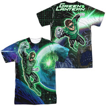Authentic DC Original Green Lantern GL in Space Sublimation Front Back T-shirt - $30.99+