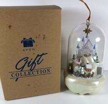 Vintage Avon Santa's Magical Castle Christmas Tree Ornament Light Motion... - $16.82