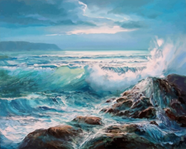Waves against Rocks Paint by Numbers Kit - $23.99+