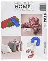 McCall's Patterns M4123 Comfort Zone Pillows and Bolsters, All Sizes - $14.21