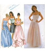 Misses Prom Formal Bridesmaid Bustier Boned 8 Layer Tulle Gown Sew Patte... - $11.99