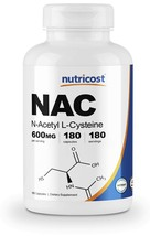 Nutricost N-Acetyl L-Cysteine 180 Capsules - $74.04