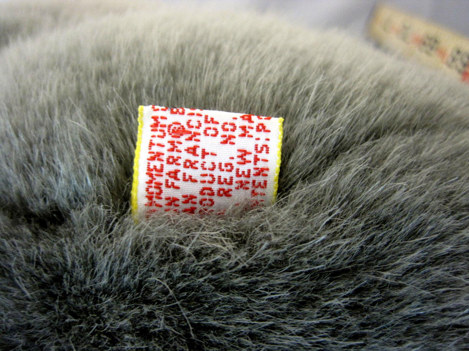 """Toy ELEPHANT Big Ears Sitting Stuffed Plush Soft Grey 11"""" Tall"""
