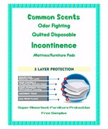 """23x36"""" 150ct Common Scents Quilted Odor Fighting Incontinence Pads EXTRA... - $41.75"""