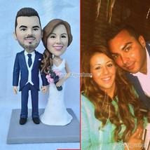handmade wedding cake topper gift diy present for bride groom girlfriend... - $148.00