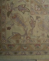 New Vintage Look Perfect Chobi Hand-Knotted 12x18 Beige Oushak Wool Rug image 2