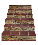 3D Staircase Stair Riser Floor Sticker Self Adhesive DIY Wall Decal Ston... - $23.36