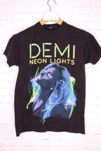 Demi Lovato Concert Black Tee T-Shirt Neon Lights World Tour 2014 Womens... - $14.84