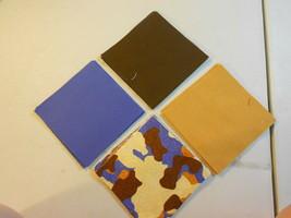 """50 4"""" Pre-Cut Quilt Squares CAMO - BROWNS & BLUE #72 - $9.88"""