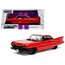 1959 Cadillac Coupe DeVille Red 1/24 Diecast Model Car by Jada 99990 - $30.04
