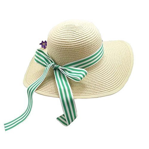 Girls Summer Sunscreen Large Brimmed Hat Child Children Folding Beach Hat UV