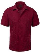 Guayabera Men's Cuban Beach Wedding Short Sleeve Button-Up Casual Dress Shirt (4