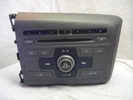 2012 12 Honda Civic Radio Cd Player  39100-TR0-A315 2BC6 RE202 - $20.79
