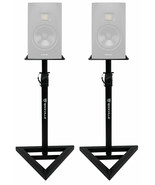 2 Rockville Adjustable Studio Monitor Speaker Stands For ADAM Audio T7V ... - $99.99