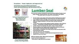 TriCoPolymer VOC Free Non Toxic Lumber-Seal Clear Satin Wood Sealer, 1 gallon
