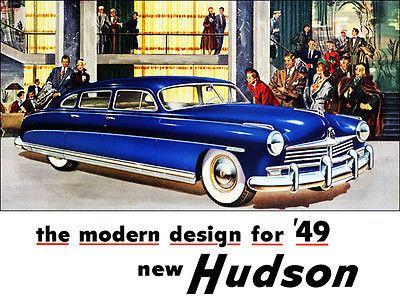 Primary image for 1949 Hudson - Promotional Advertising Poster