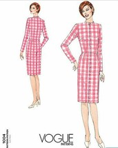 Vogue Patterns V1004 Misses Mid Knee Dress Fitting Shell Size 6 - $21.24