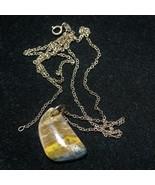 "bumble bee jasper pendant 14ct, 22"" fine gold chain ring clasp - $43.56"