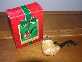 Vintage Hallmark Keepsake 1985 SANTA'S PIPE Christmas Tree Ornament in Box – 4.2 image 1