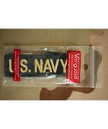 USN NAVY CPO & OFFICER NWU UNIFORM GOLD TYPE 1 BLUE SERVICE BRANCH INSIGNIA TAPE - $6.92