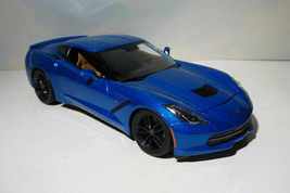 ~ 2014 Chevrolet Corvette Stingray  Z51 - 1:18 Diecast -  Laguna Blue   ... - $24.95
